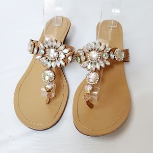 Nicole Sparkly NBRYANT Embellished Sandals